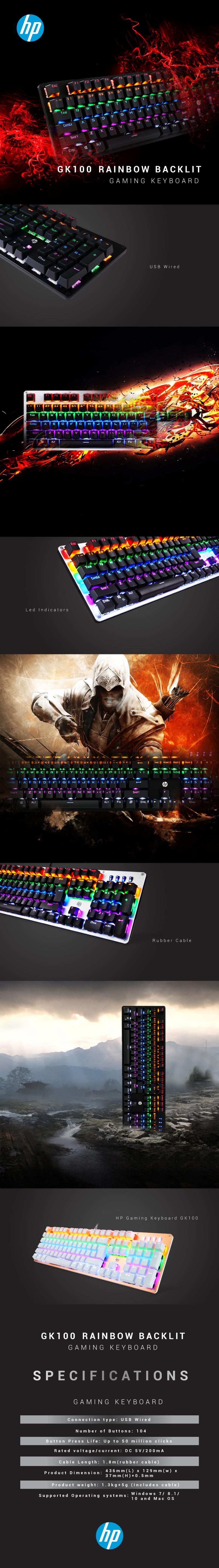 hp gk100 gaming keyboard