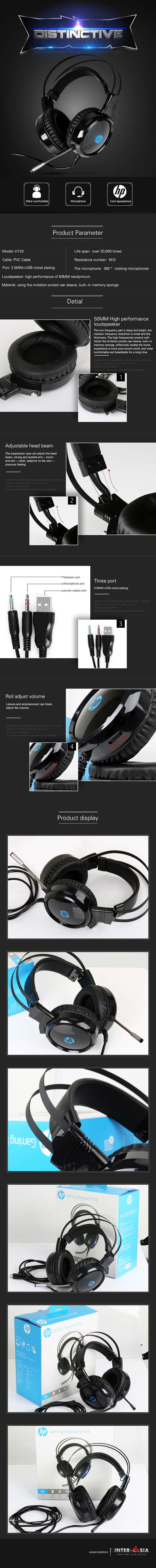 hp h120 high performance gaming headset