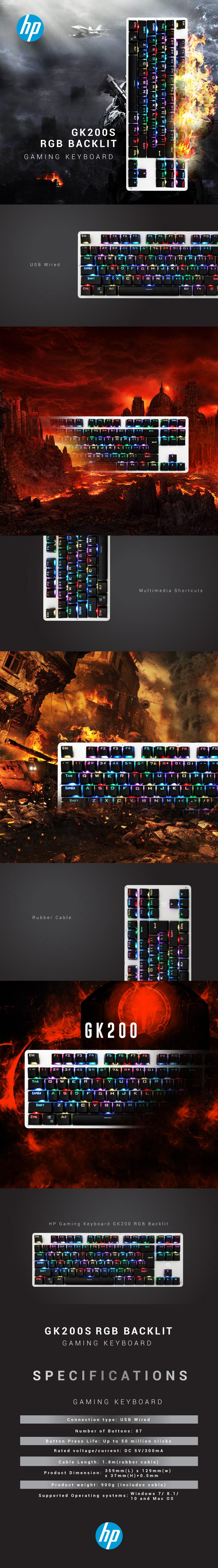 hp gk200s mechanical keyboard