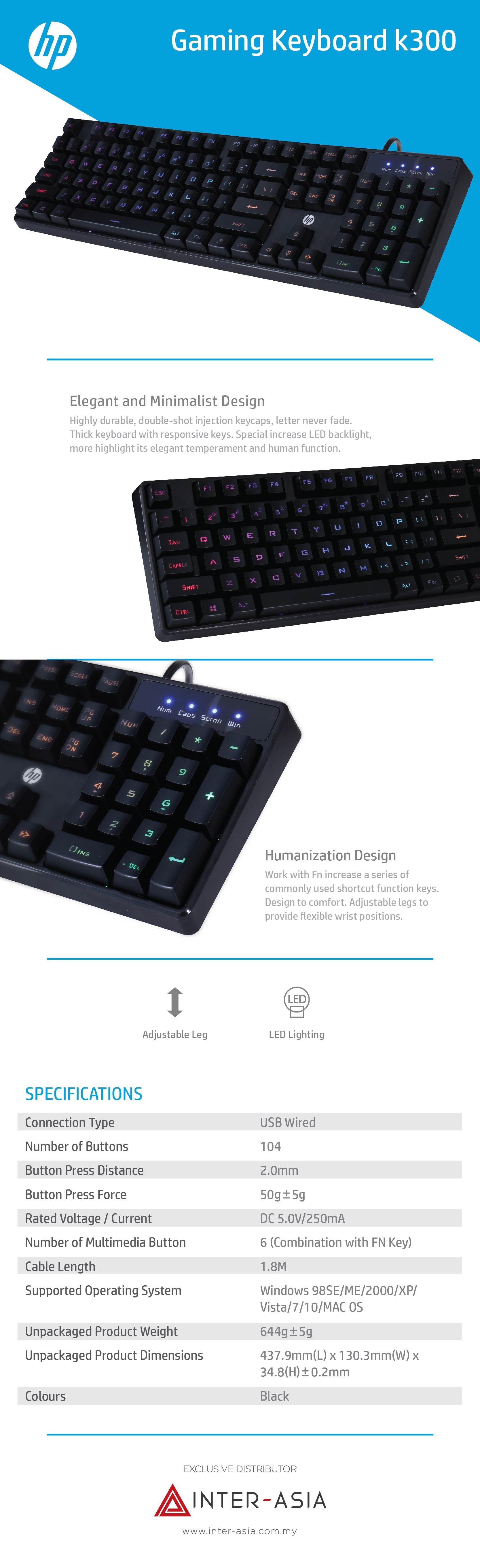 hp k300 gaming keyboard