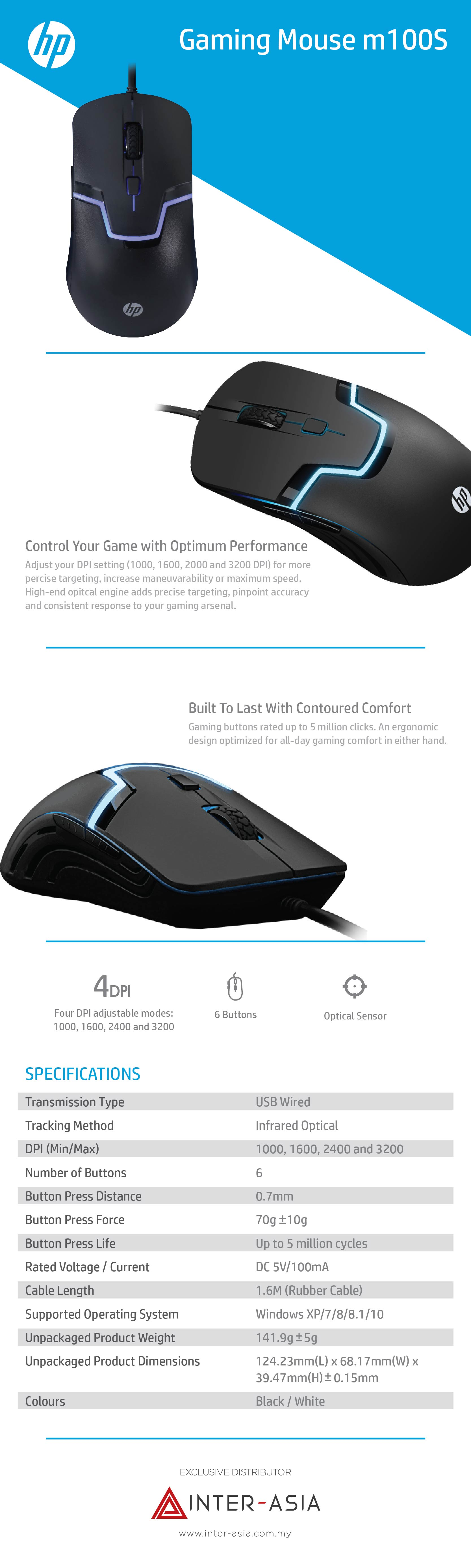 hp m100s gaming mouse