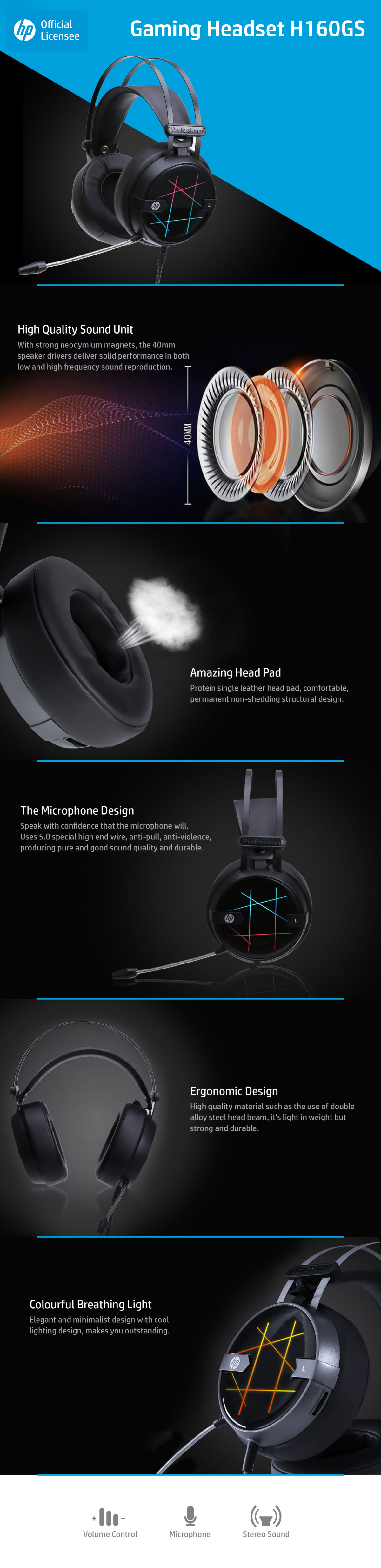 HP H160GS Gaming Headphone