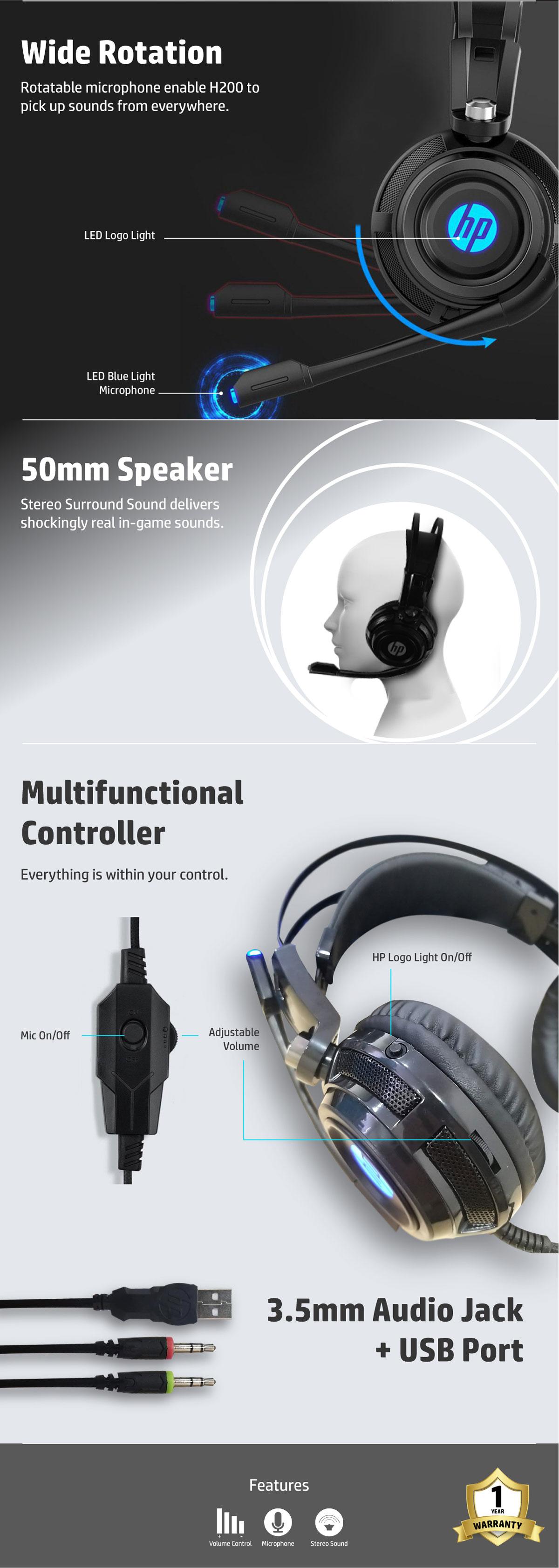 HP H200 Headphone