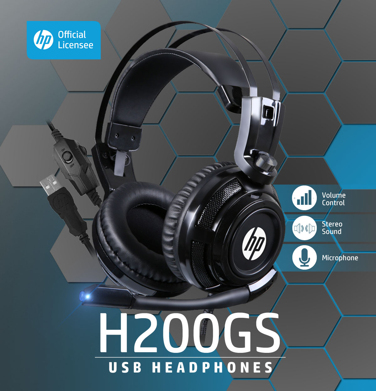 HP H200GS USB Headphone