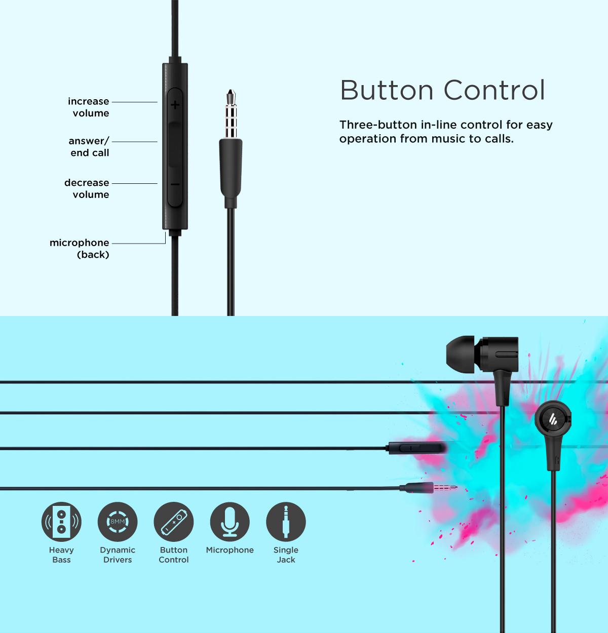Edifier P205 Wired Earphone